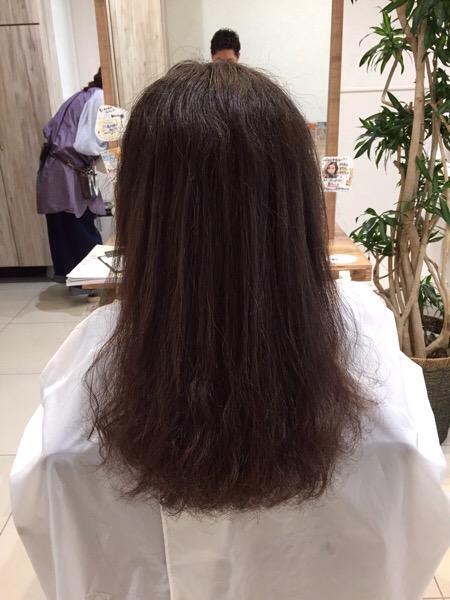 縮毛矯正とデジタルパーマの同時施術