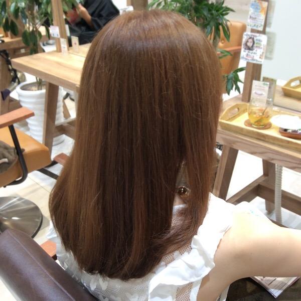 カラー毛、細毛の縮毛矯正
