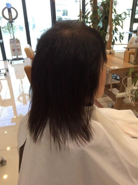 70代のお客様の縮毛矯正