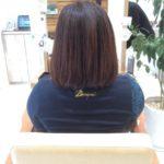 前回の縮毛矯正から3か月経った髪の状態