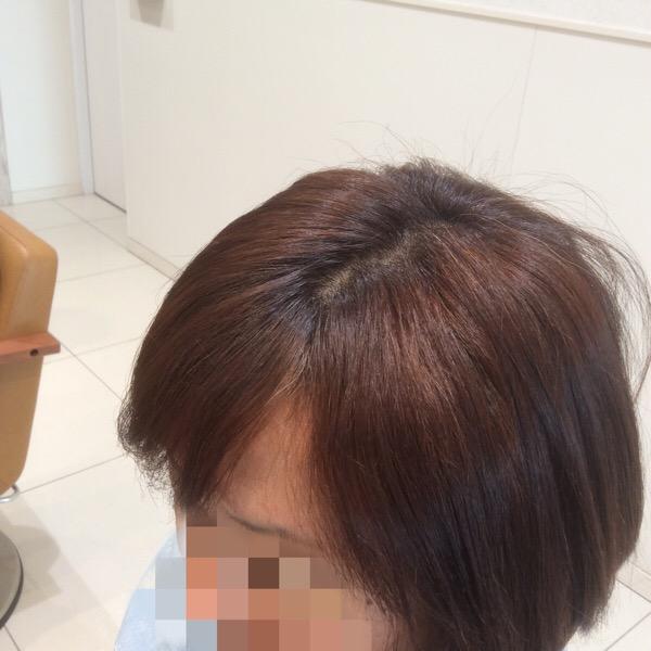 前髪の縮毛矯正とハナヘナの髪質改善ハーブトリートメント