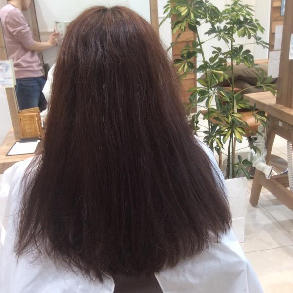 セルフカラー×縮毛矯正したくせ毛に縮毛×デジパ×カラーをしてみた