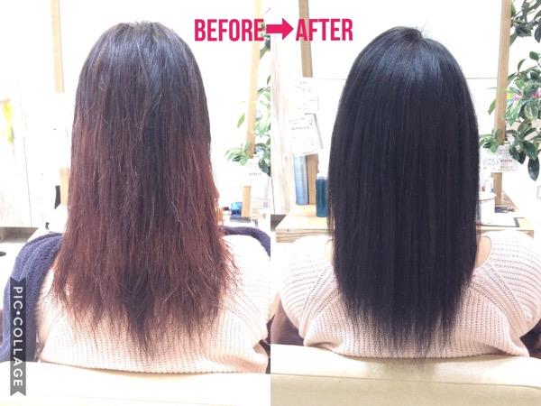 ブリーチ9回にセルフカラー数回、そしてデジタルパーマという髪の髪質改善