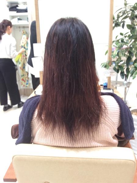 ブリーチ毛に縮毛矯正してビビリ毛になった髪