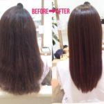 縮毛矯正の上にデジパをかけて失敗した髪の髪質改善(ビビリ直し)