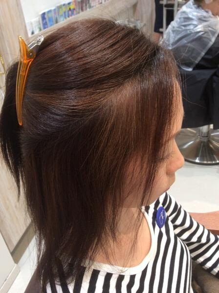 前髪、顔周りの弱いデリケートなくせ毛の縮毛矯正(ストレートパーマ)