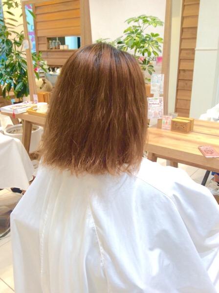 縮,毛,矯正,カラー