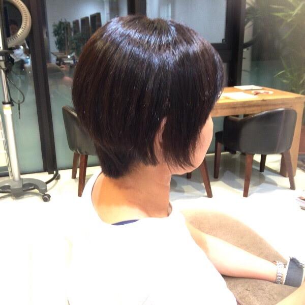 くせ毛のショートでも縮毛矯正も綺麗にできます!