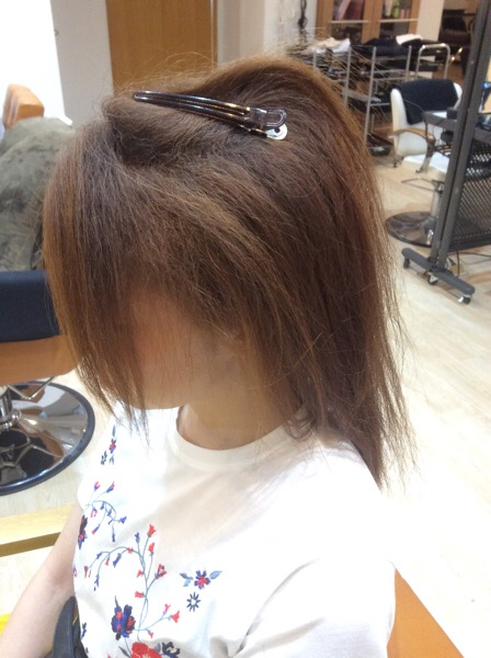 チリチリの強いくせ毛×軟毛×ダメージ毛の縮毛矯正