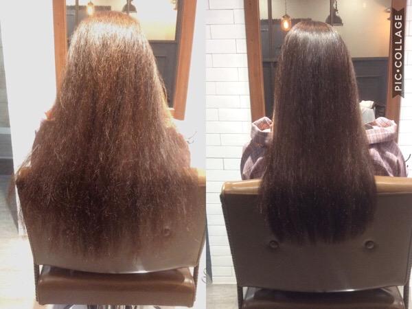 髪のごわつきの改善