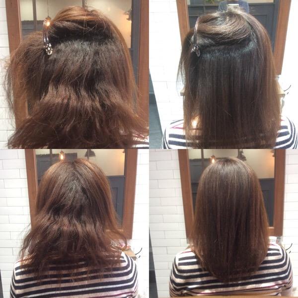 縮毛の縮毛矯正2