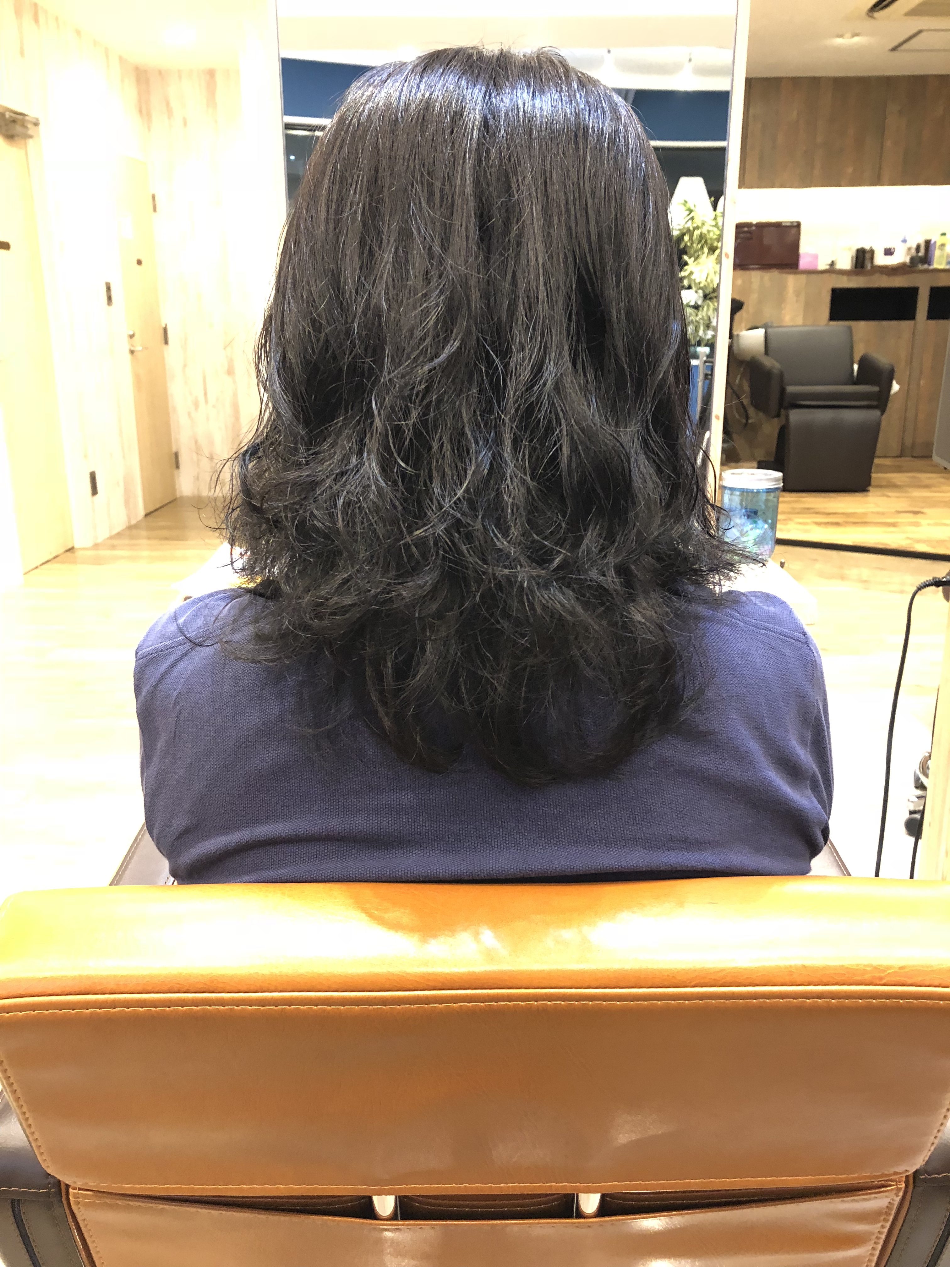 縮毛矯正した髪にパーマ