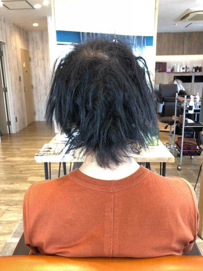 男性のくせ毛