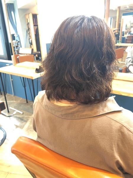 パーマと白髪染めでパサパサになった髪の髪質改善前