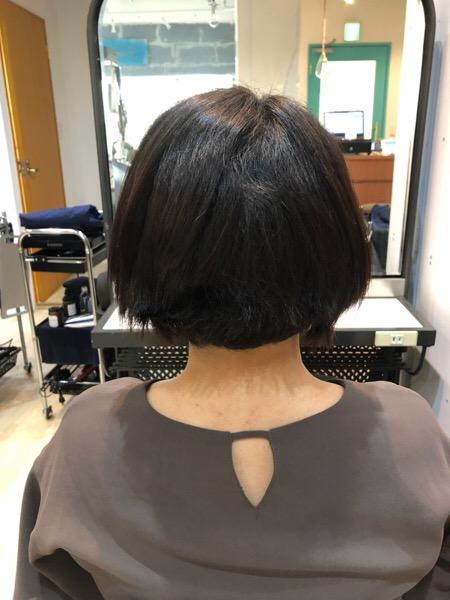 ショートでくせの強いダメージヘアの縮毛矯正前